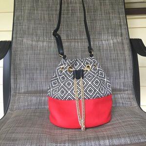 New woman's bag hobo drawstring snap chain tassels